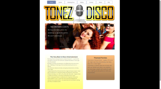 Tonez Disco another site by Pre-Tech
