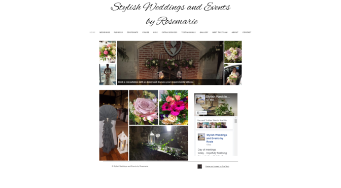 New website! Stylish Weddings and Events.