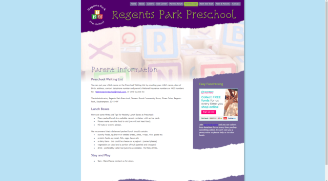 Regents Park Primary School Website Now Live!