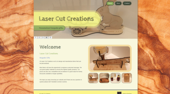 Laser Cut Creations new website!